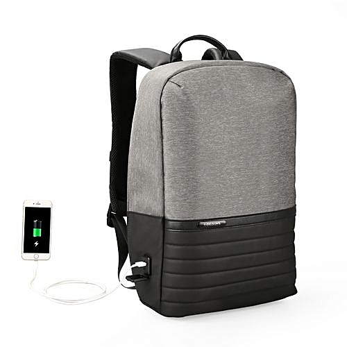 77fa2e3e2ca0 Generic Kingsons Waterproof Men Backpack USB Charging Business Laptop  Backpack 15.6 Inch Fashion School Bags