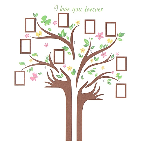 Buy Generic Family Tree Wall Decal Sticker Removable Picture Frame ...