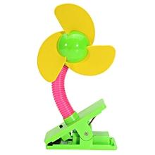 Safe Soft Blades Flexible Mini Clip On Fan Baby Pram Stroller Cot Table Battery