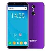 OUKITEL C8 3G Phablet 5.5 inch 2.5D Arc Screen Android 7.0 MTK6580A 1.3GHz Quad Core 2GB RAM 16GB ROM Fingerprint Scanner 8.0MP Rear Camera - PURPLE
