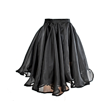 Black Full Midi Skirt