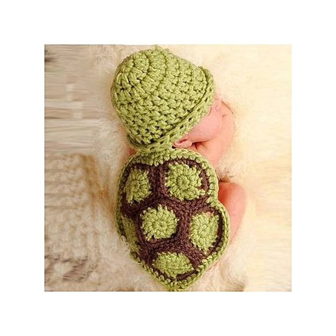 d87a47dc5 Fashion Braveayong Baby Newborn Turtle Knit Crochet Clothes Beanie ...