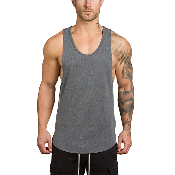 9ce846da5901ad Technologg Shop Men s Gyms Bodybuilding Fitness Muscle Sleeveless Singlet T- shirt Top Vest Tank