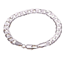 925 Silver Fashion Bracelet Jewelry 8mm Men's Stylish Bracelet