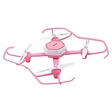 HJ TOYS QQ - FLY W606 - 6 RC Drone WiFi FPV 480P Camera 2.4GHz 6-axis Gyro Headless Mode Air Press Altitude Hold-PINK