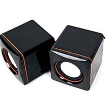 Black&Orange Multimedia Desktop and Laptop Speakers