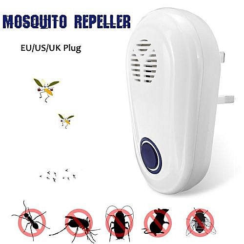 Insect Mosquito Repeller UltrasonicRepeller Electronic EU/US/UK Plug Black  White