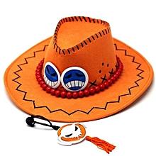 Fashion Unisex Sports Outdoor Sunbonnet Sun Hat(Color:Orange)