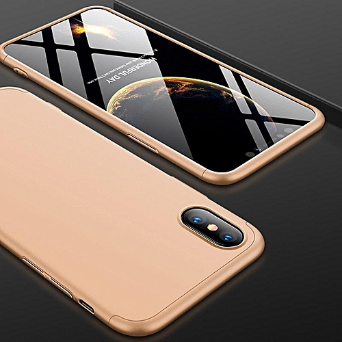 b041c7b92e9 Generic Case For IPhone XS Max Case 360 Degree Full Protection Hard PC 3 In 1  Matte For IPhone XSMax Cover Fundas Coque (Gold)