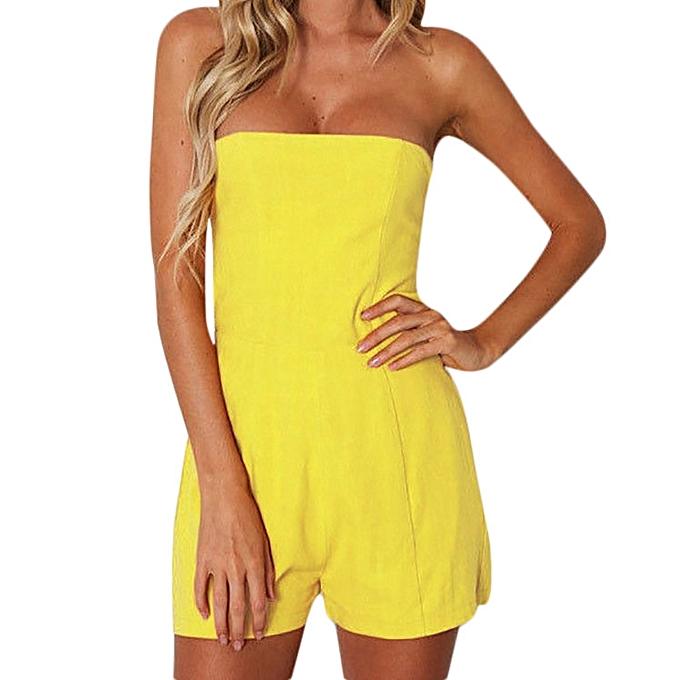 Buy Fashion Jiuhap Store Women Ladies Pure Color Bow Tie Backless b9b4e415105