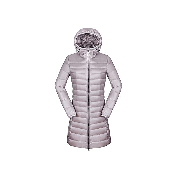 bcb72318a Women's Winter Warm Puffer Ultra Light Long Sleeve Duck Down Jacket  Windproof Hoodie Long Parka Coat Outerwear Grey