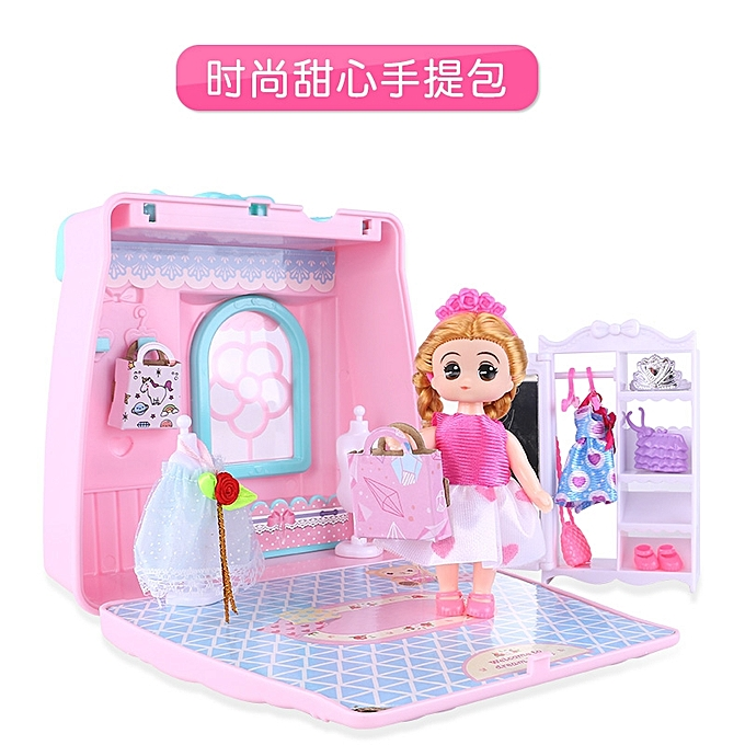311 Fashion Sweetheart HandbagBarbie Mobile Gift Box Small Childrens Mini Kitchen Toys 3