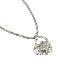 Valentine Gifts Hot Korean Fashion Trend Of Personalized Silver Plated Necklace Heart Of The Necklace Jewelry