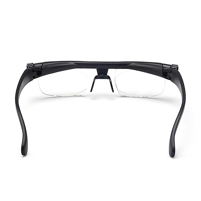 8ac3a67b73f ... Adjustable Focus Glasses Non-Prescription Lenses Magnifying Unisex  Glasses Black ...