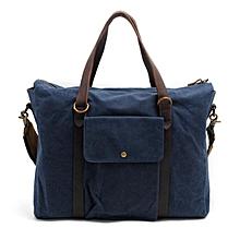 Stylish Vintage Canvas Laptop Bag (Blue)