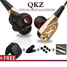 QKZ CK8 HIFI In-Ear Headphones With Microphone (Gold)