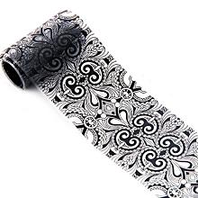 bluerdream-4*100 CM Black Lace Starry Sky Design Nail Art Foil Stickers Transfer Decal Tips-Black