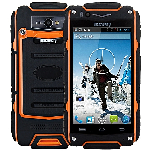 4.0 inch Discovery V8 Android 4.4 3G Smartphone MTK6572 1.0GHz Dual Core WiFi GPS Waterproof Dustproof Shockproof 4GB ROM ORANGE