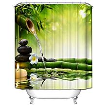 Custom Fabric Waterproof Bathroom Shower Curtain-As shown