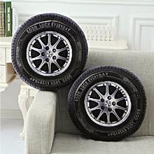 40cm PP Cotton 3D Car Tire Shape Cushion Car Wheel Waist Throw Pillows Home Office Sofa Decor