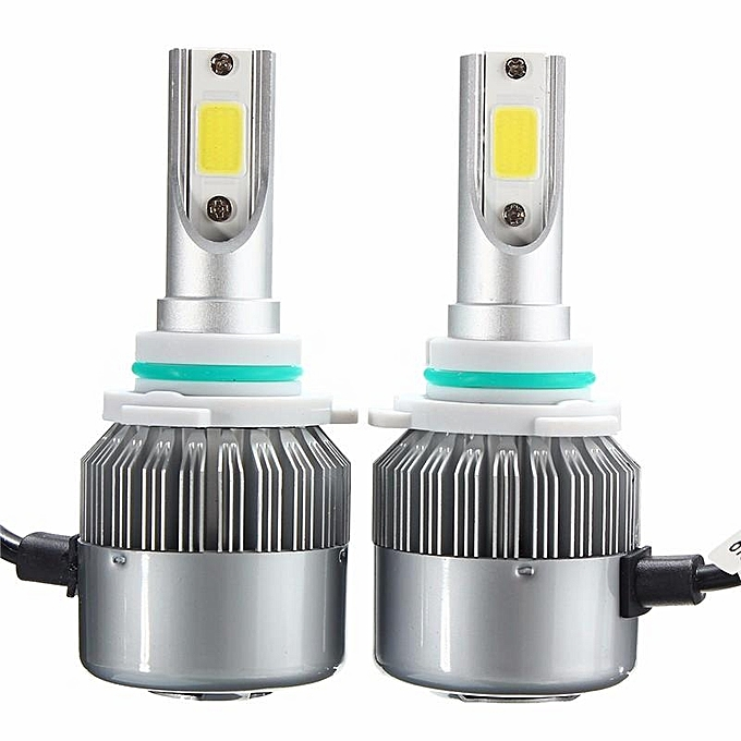 1Pair 72W 7600LM 9006 LED Light Bulb Headlight Conversion Kit 6000K