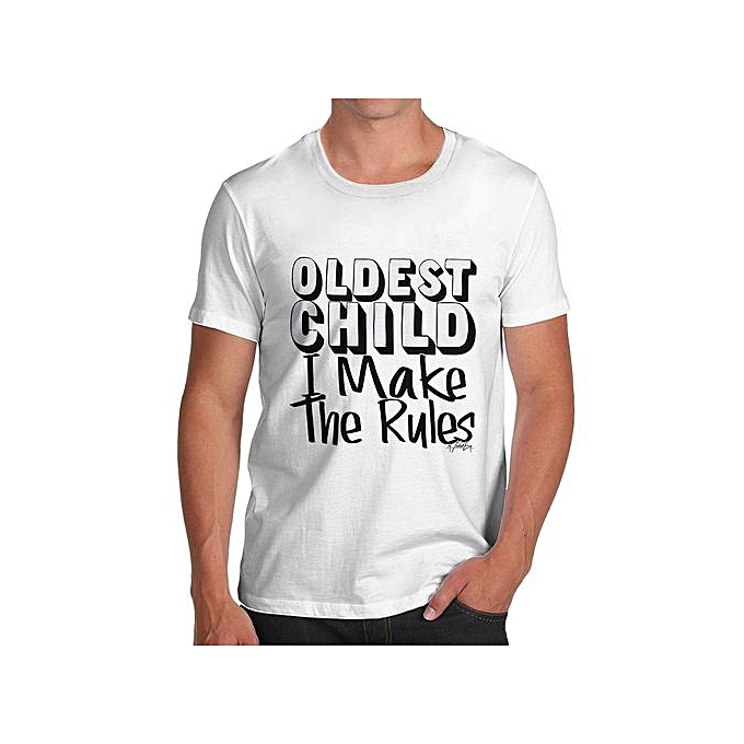 da9138ab9 Men's Oldest Child I Make The Rules Funny Cotton T-Shirt Summer Fashion  Style