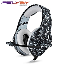 K1B new Gaming headphones Tablet computer Headset music Laptop 3.5mm noise canceling headphone stereo earphone With microphone