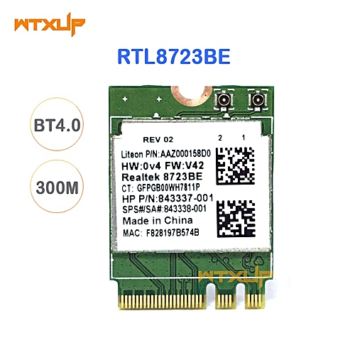 Wireless Adapter for RTL8723BE 802 11n WiFi Card Bluetooth 4 0 NGFF card  SPS 843338-001 300Mbps( )