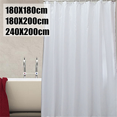Generic Waterproof White Polyester Shower Window Curtain Home