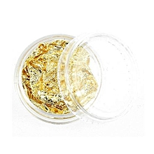 bluerdream-Gold Silver 4 Colors Tinfoil 3D Nail Art Stickers DIY Decorations Glitter Nail-Multicolor