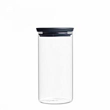298264 - Stackable Glass Jar 1.1L - Dark Grey