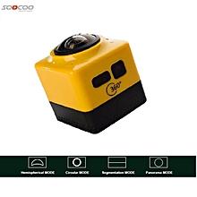 Soocoo Cube 360 Wifi Action Camera (Panaromic, Fish Eye, VR) Yellow WWD