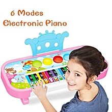 Mini Baby Kid's 6 Modes Electronic Organ Flashing Music Animal Piano(Color:Random)