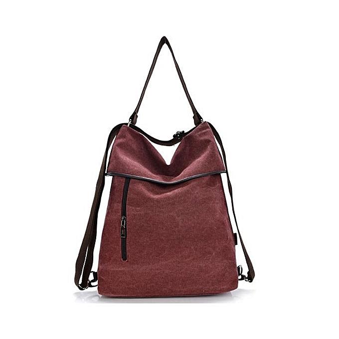 ... Women Canvas Handbags Girls Casual Shoulder Bags Backpacks Crossbody  Bags b8af2251484a4