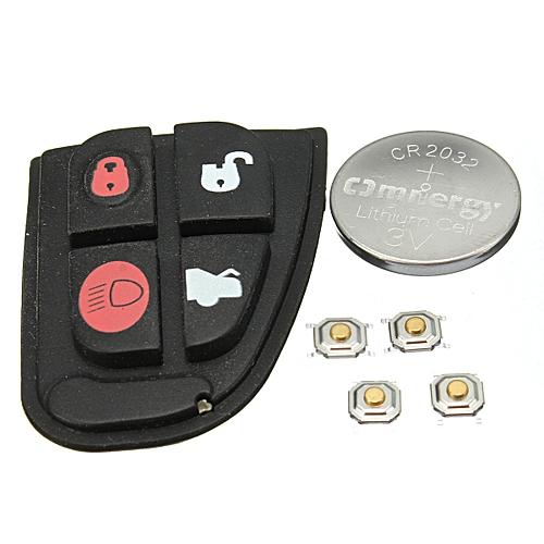 4 Button Remote Key Fob Case DIY Repair Kit Pad For Jaguar X Type XF E S  Switch