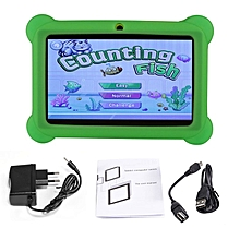 Q88 7 inch Children Tablet 512MB+4GB A33 Quad Core Android 4.4 Tablet PC green