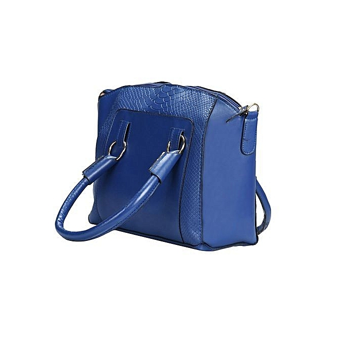 bluerdream-Women Shoulder Bag Faux Leather Satchel Crossbody Tote Handbag  Blue-Blue ca0044bac7674