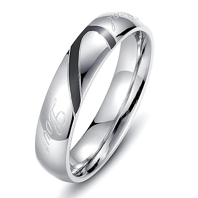 Buy Sunshine Couple Rings Love Heart Real Love Letter Engraved