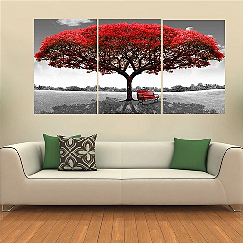 Buy Generic 40x60cm Red Tree Modern Abstract Oil Painting on Canvas ...