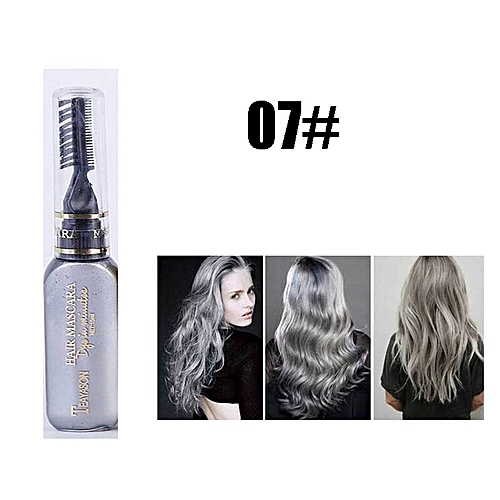 0ae53803fdd Generic 13 colors one-time hair color DIY Hair Dye Temporary Non-toxic  color hair waterproof mascara blue silver white grey AM024(7)