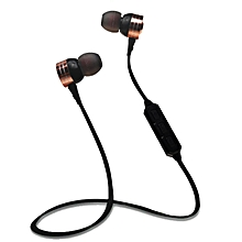 Wireless Bluetooth Sport Earphones Stereo Headphone Headset For iPhone Samsung-Black
