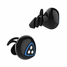 Wireless Bluetooth In-ear Earphone D900S Apt-x IPX4 Waterproof Earbud - Black