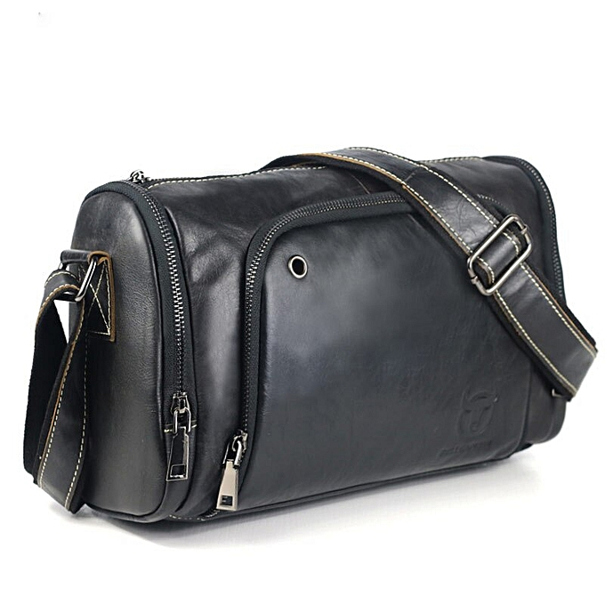 9eb29a6b 2017 Vintage Men's Leather Messenger Bag Capacity Crossbody Bags Casual  Cowhide Shoulder Bags Retro Bags Man Briefcases(steel grey)