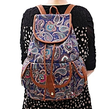 bluerdream-Fashion Canvas Backpack For Women Girls Boys Casual Book Bag Sports Day Pack -As Shown