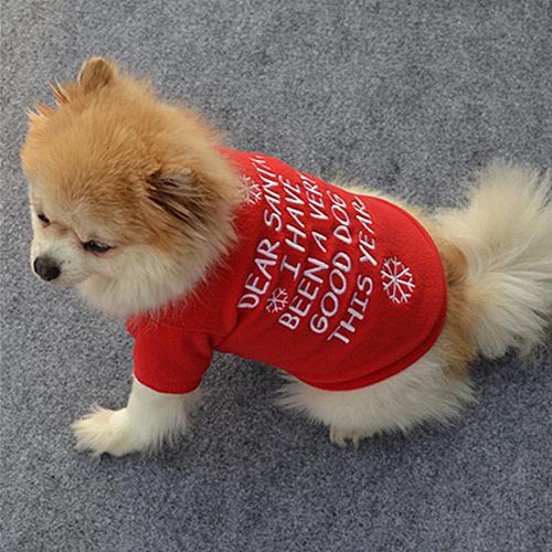Buy Generic Christmas Pet Clothes Dog Santa Sweater Shirt Puppy Cat