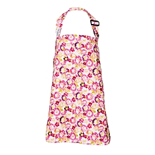 Pink And Yellow Ochird Print Nursing / Breastfeeding Cover