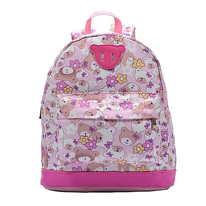 Children Backpack Fashion Cartoon Printed Boys Girls Leisure Travel School  Bag 1f2b84b78b