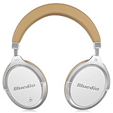 Bluedio F2 Wireless Bluetooth Headset with Mic - WHITE