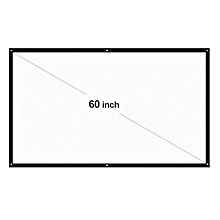 """H60 60"""" Portable Projector Screen HD 16:9 White 60 Inch Diagonal Projection Screen Foldable Home Theater for Wall Projection Indoors Outdoors"""
