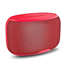 NR - 4015 Wireless Bluetooth Stereo Speaker Subwoofer Mini Player-RED